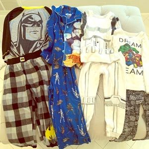 Pajama set lot. All fit Size 4-5 toddler.